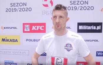 Krzysztof Janczak i Błażej Szymeczko po meczu z MCKiS-em Jaworzno